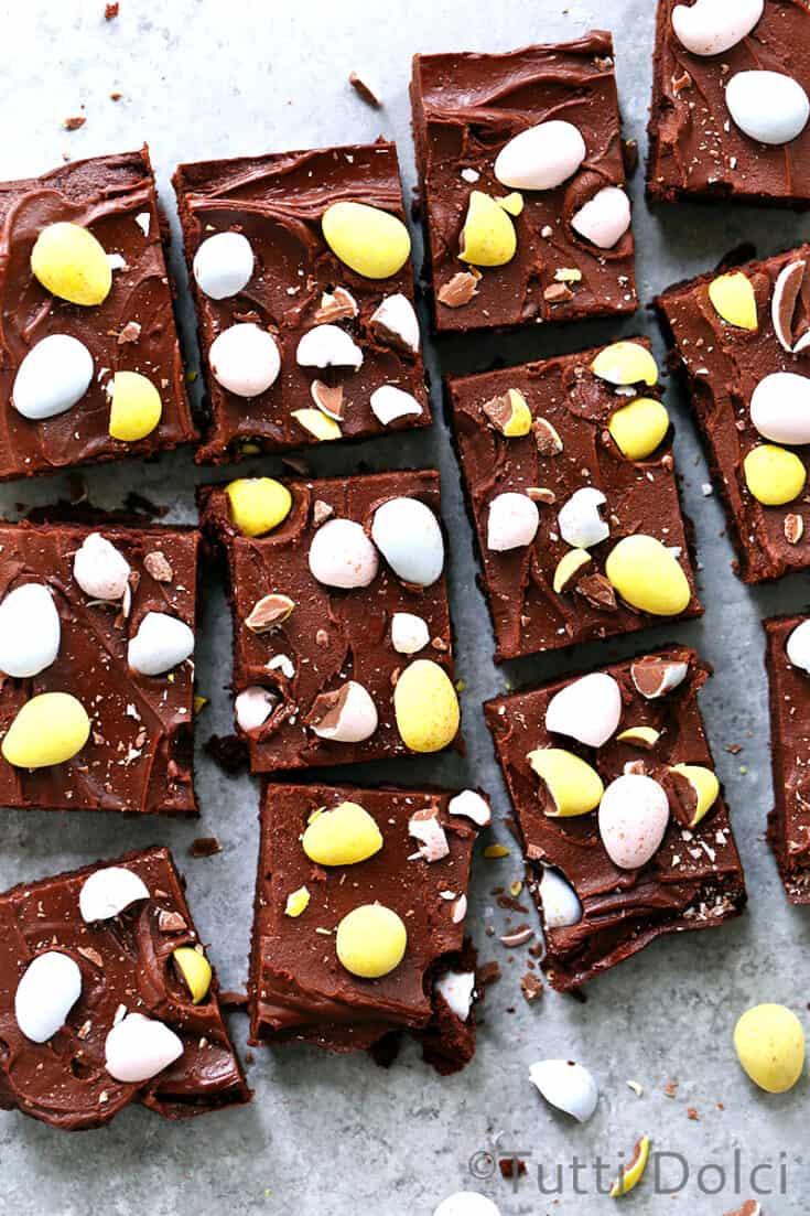 Cadbury Mini Egg Brownies