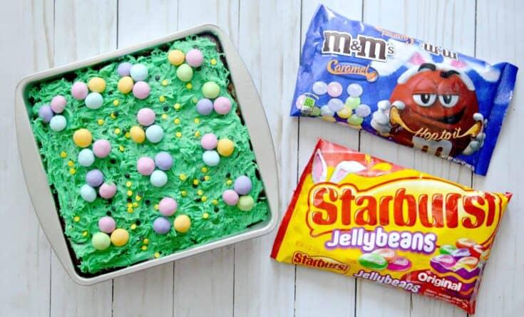 Caramel Brownie Easter Egg Hunt