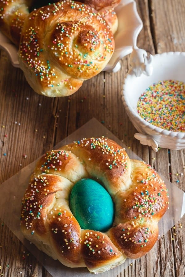 Traditional Italian Easter Bread