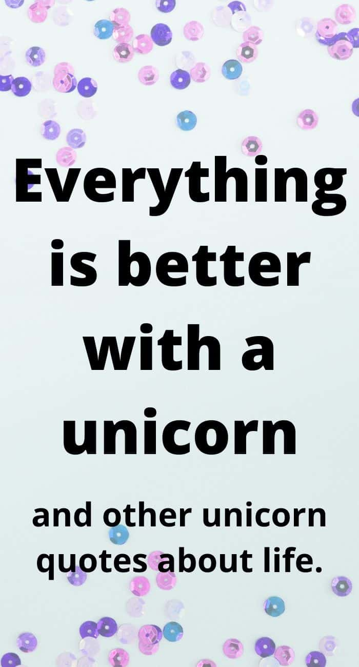fun unicorn quotes about life