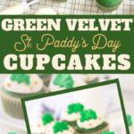 easy green velvet cupcakes