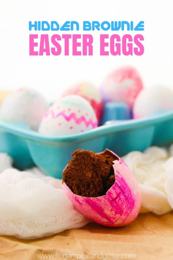 Hidden Brownie Easter Eggs