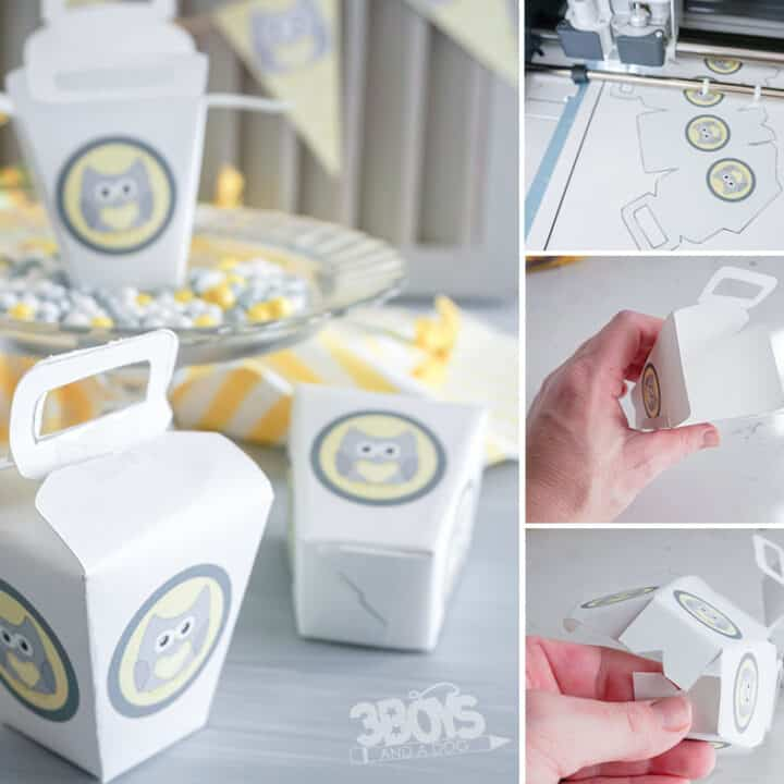 Owl Baby Shower Favor Box