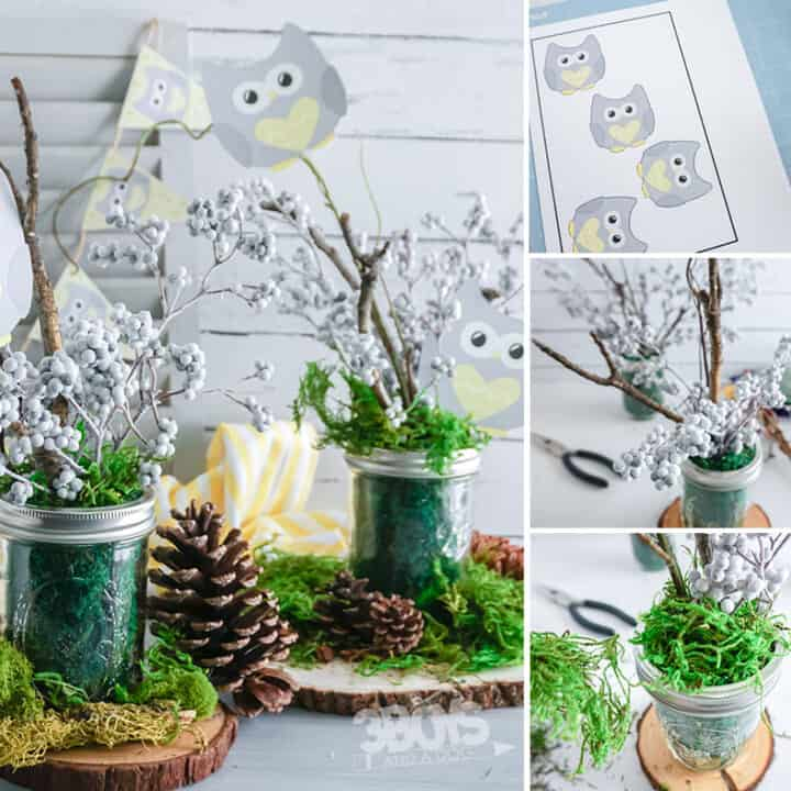 Owl Themed Baby Shower Centerpiece