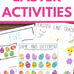 easter themed activity worksheets for preschoolers