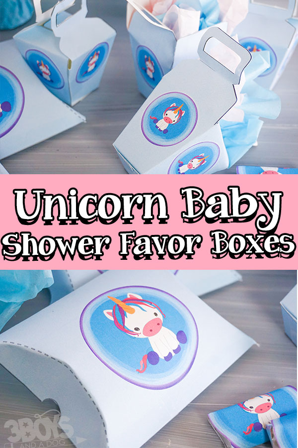 Unicorn Baby Shower Favor Boxes