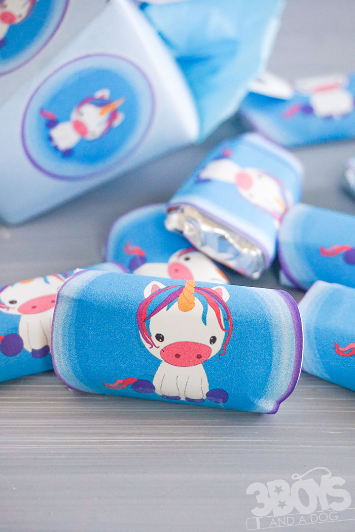 Unicorn baby shower Chocolate Bar Wrappers