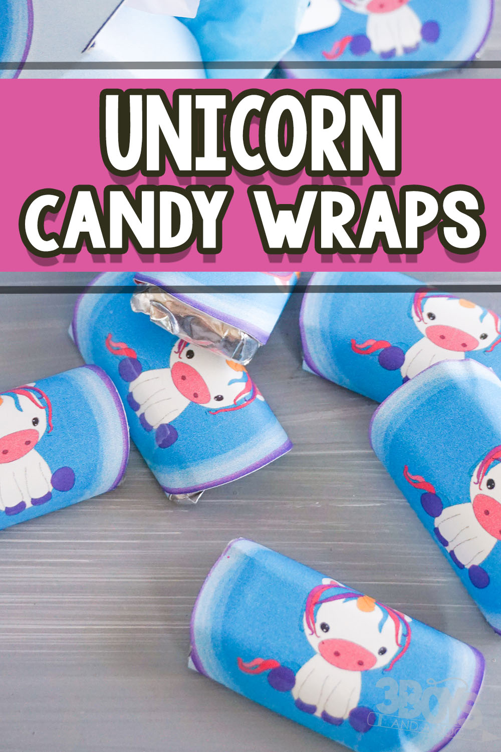 Unicorn candy Bar Wrappers