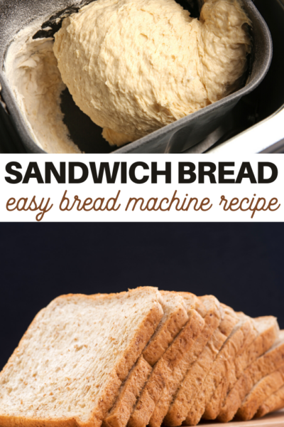 it only takes a few ingredients to make this delicious bread in the bread maker