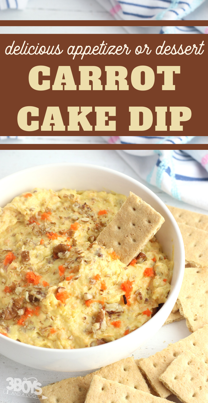 make this carrot cake dessert dip recipe for your next brunch