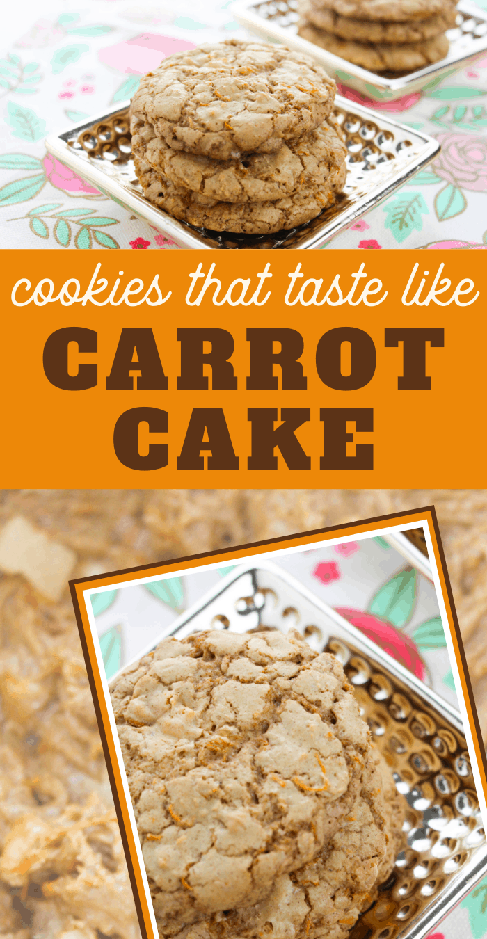 enjoy these carrot cake inspired cookies this Easter