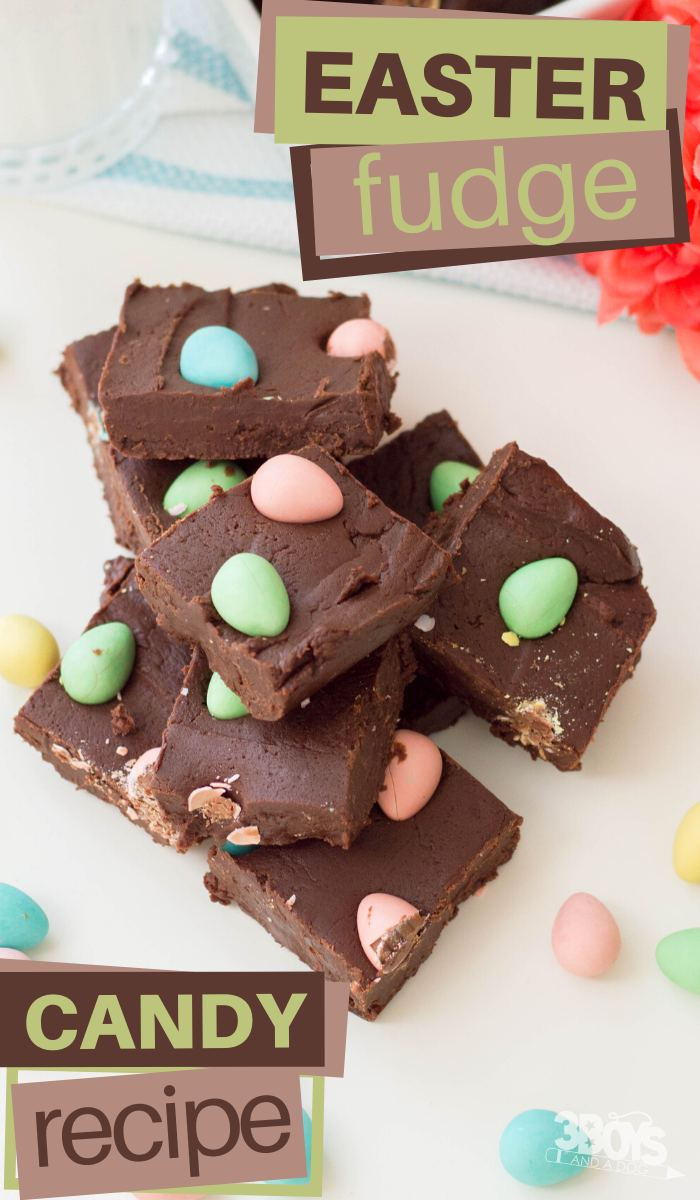 easter eggs and chocolate fudge recipe