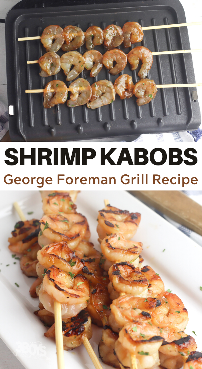 Shrimp Kabobs on George Foreman Grill