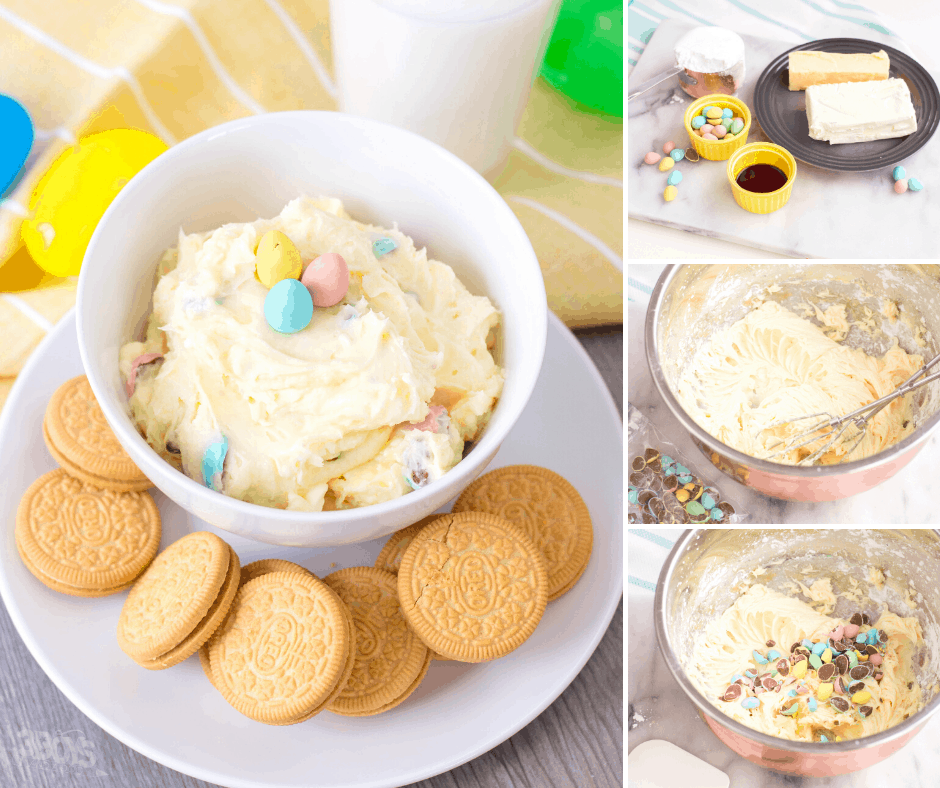 sweet cookie dip for Easter