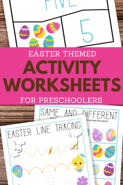 preschoolers printable easter activities