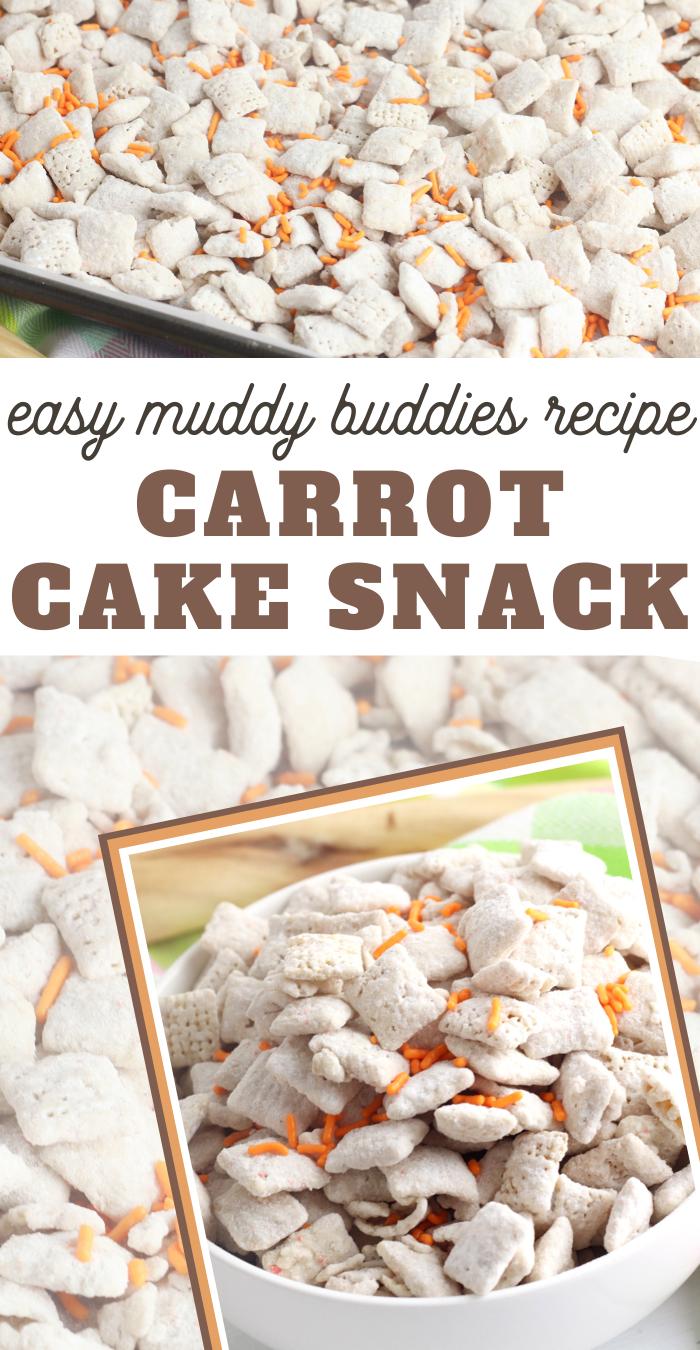 carrot cake muddy buddies snack mix