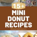 over 15 delicious mini donut recipes