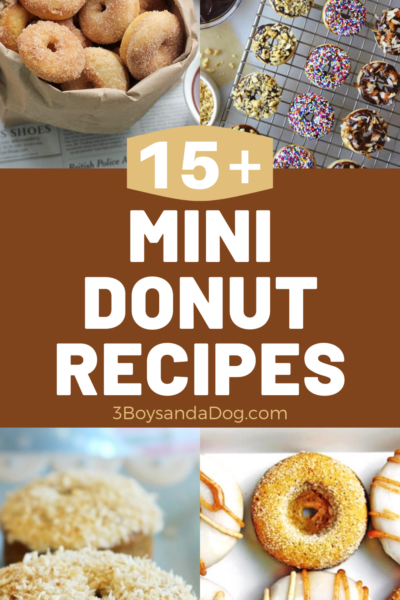 over 15 delicious mini donut recipes