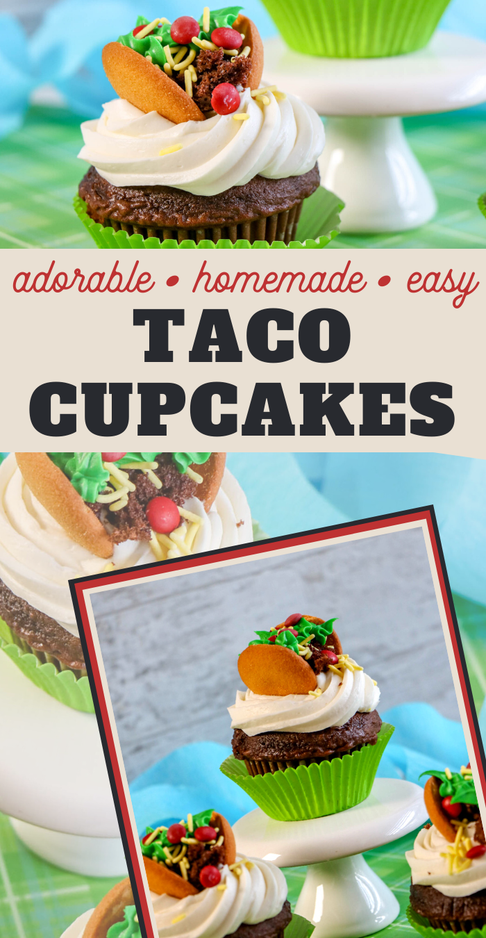 adorable taco cupcakes look so realistic