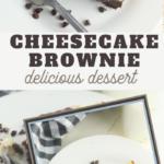 cheesecake with a chocolate brownie swirl