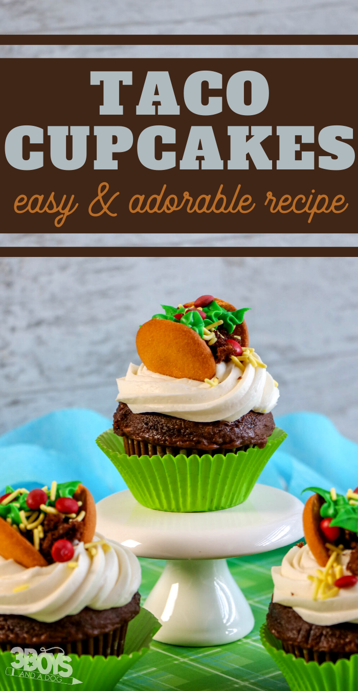 easy chocolate taco cupcakes for cinco de mayo