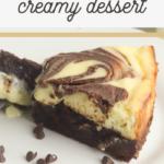 homemade philadelphia cheesecake with brownie bonus