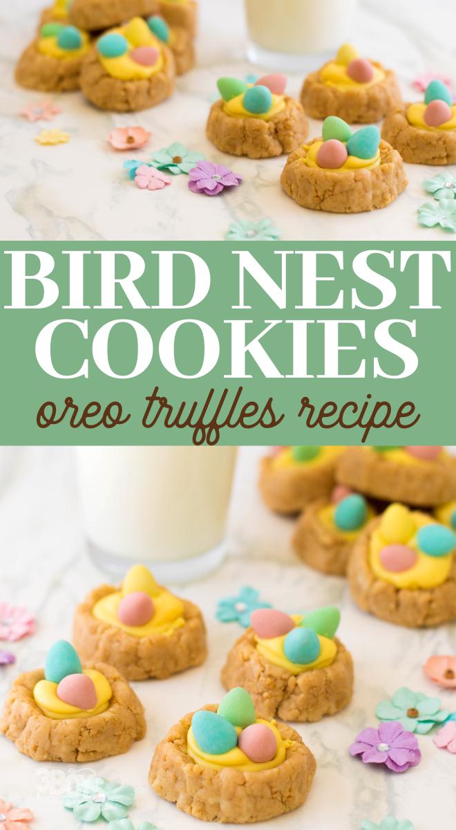 Oreo truffles bird nests with malt eggs