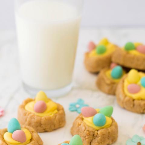 sweet easter truffle cookies