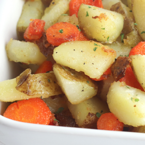 fried carrots and potatoes side dish recipe