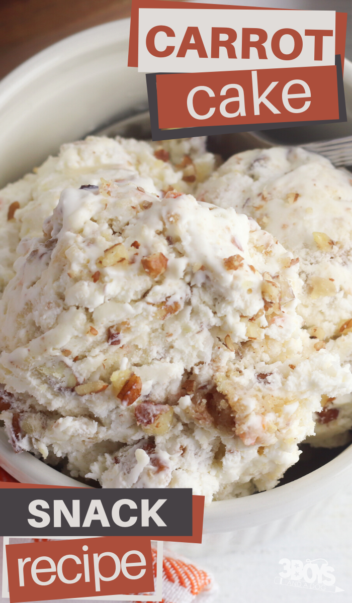 carrot cake no churn ice cream dessert recipe