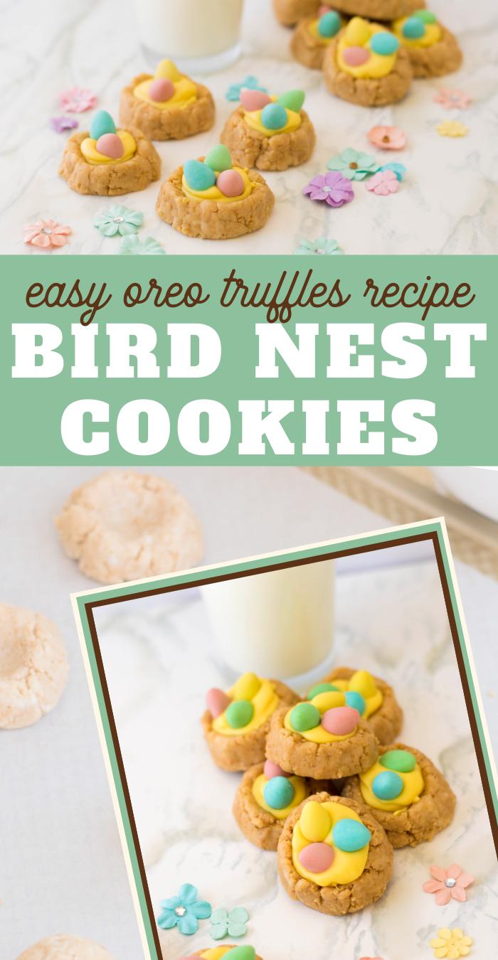 OREO Truffle Bird Nest Cookies Recipe