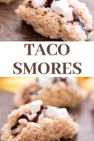 how to make these taco smores rice krispie treats for cinco de mayo
