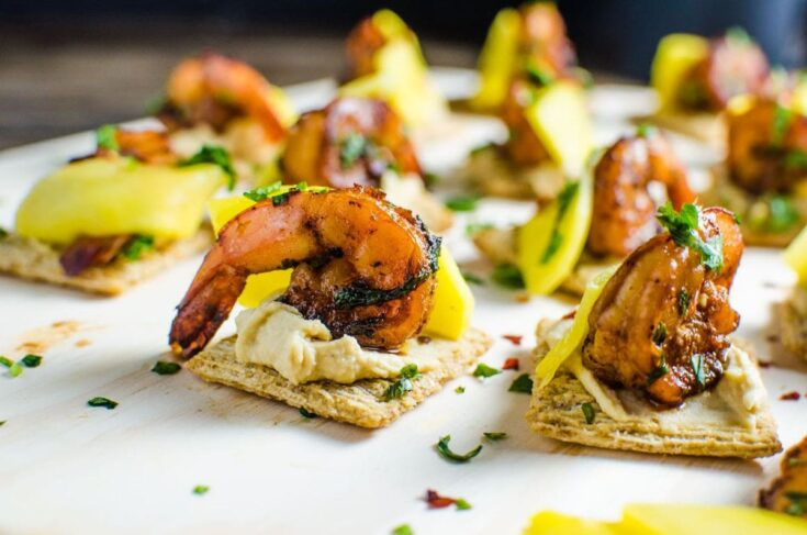 Mango and Grilled Shrimp Appetizers