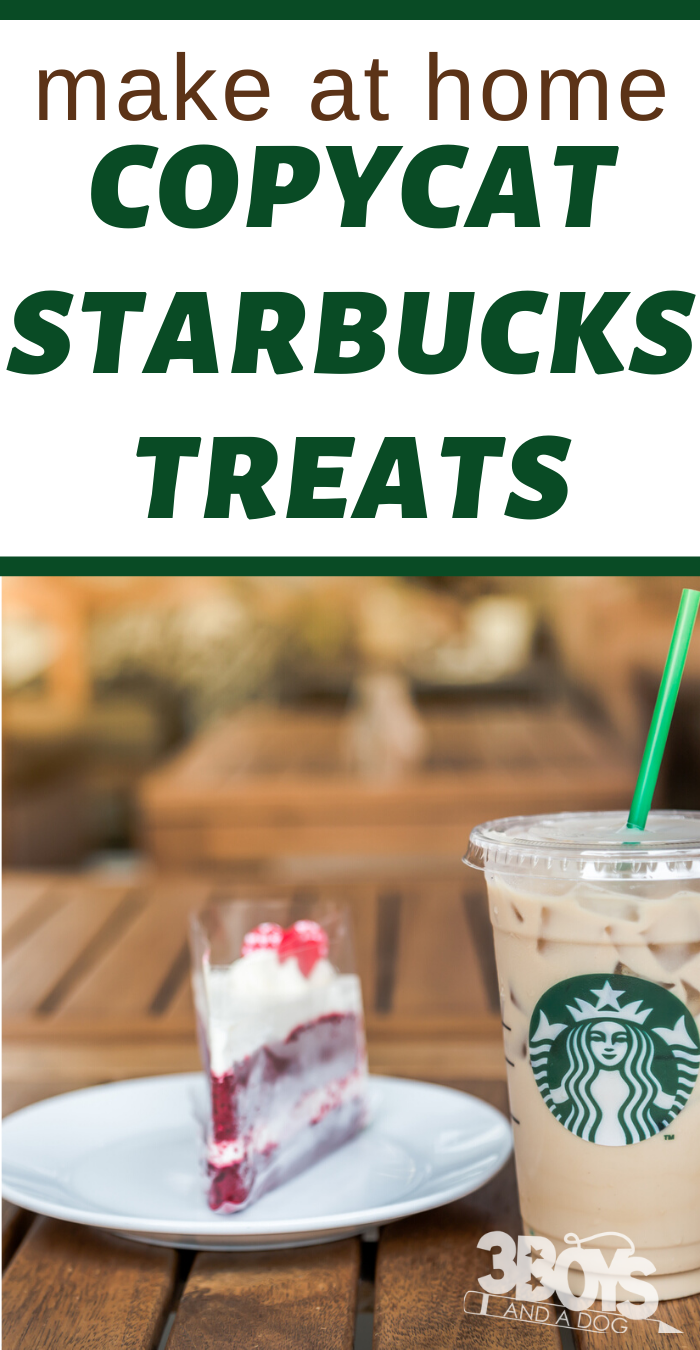 make your favorite Starbucks treat recipes at home