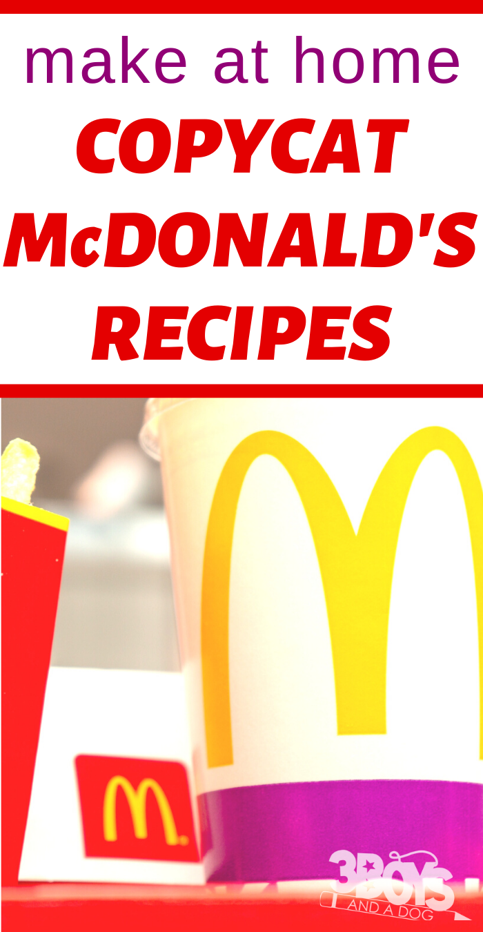 25 McDonald_s Copycat Recipes