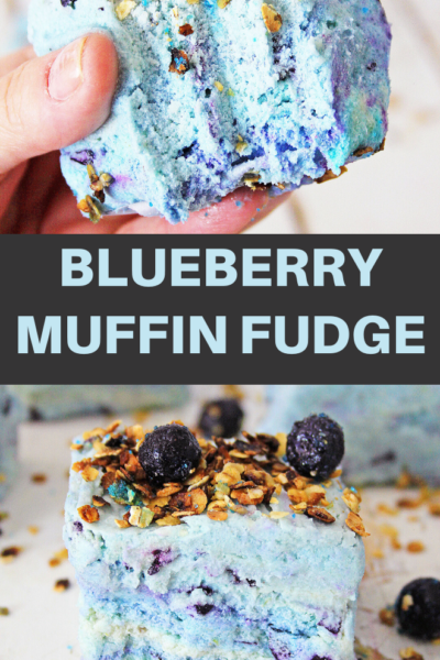 blueberry muffin fudge dessert recipe