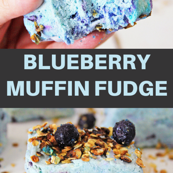 blueberry muffin fudge dessert recipe