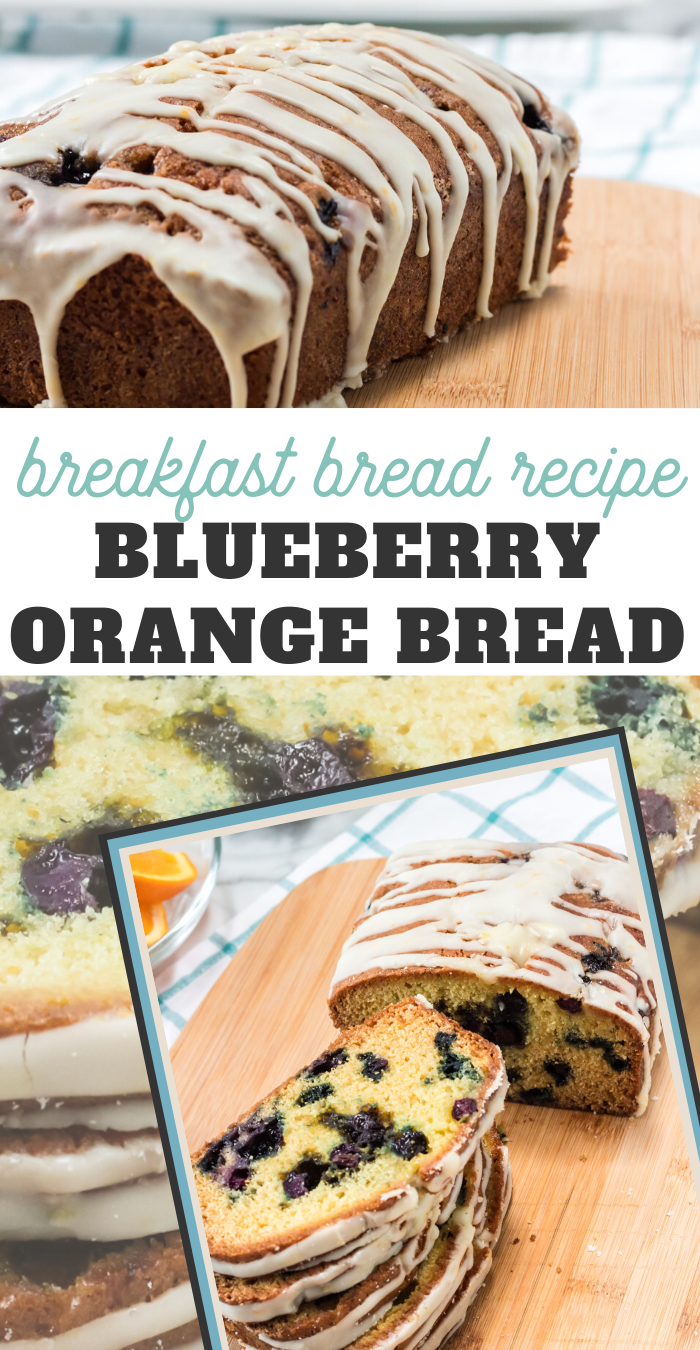 this blueberry orange bread recipe makes a beautiful and delicious sweet breakfast bread recipe
