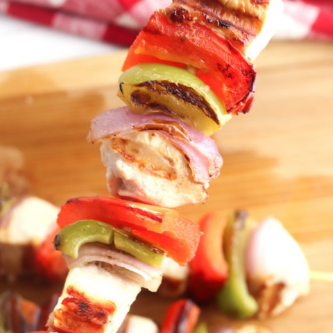 chicken kabobs on a george foreman grill