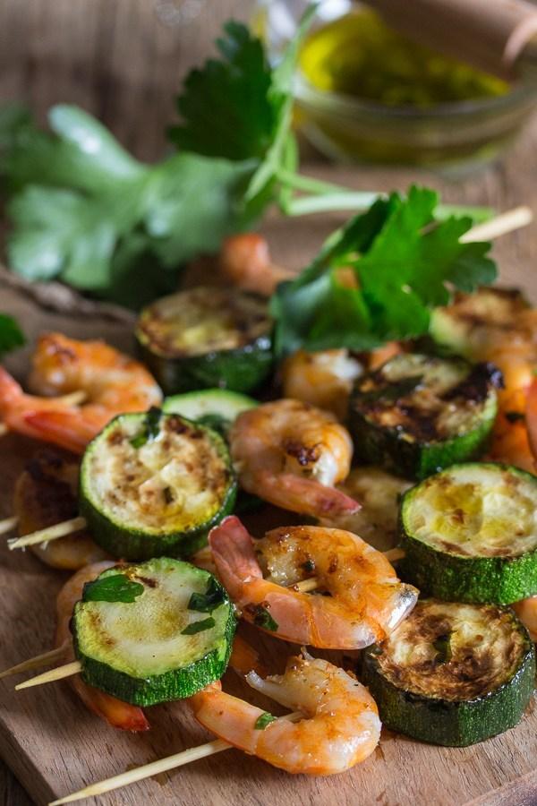 Italian Grilled Shrimp Skewers
