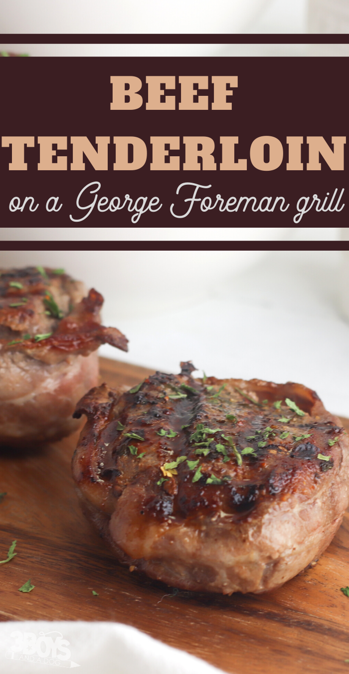 grilled beef tenderloin dish recipe on the george foreman
