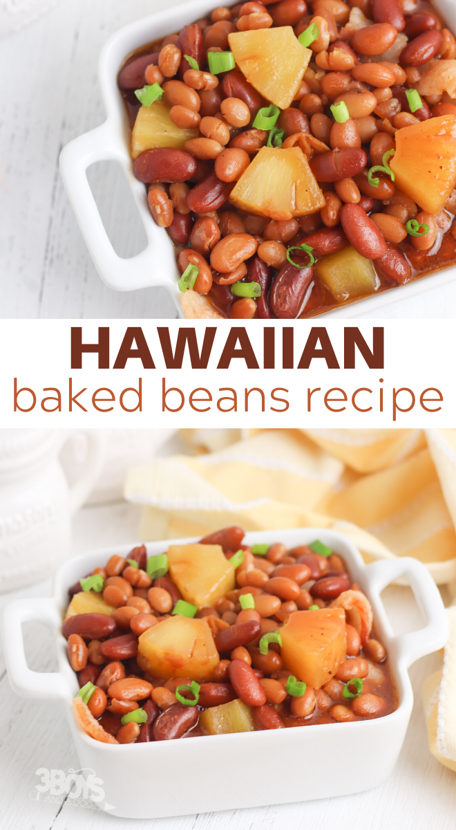baked beans with hawaiian flavors
