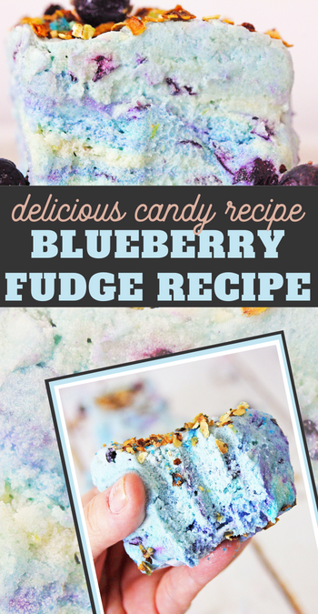 the sugared berries on top of this blueberry muffin fudge makes a delicious difference to an already amazing fudge recipe that will surely wow your guests