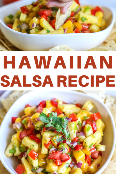 fresh pineapple and mago go together to create this yummy hawaiian salsa recipe
