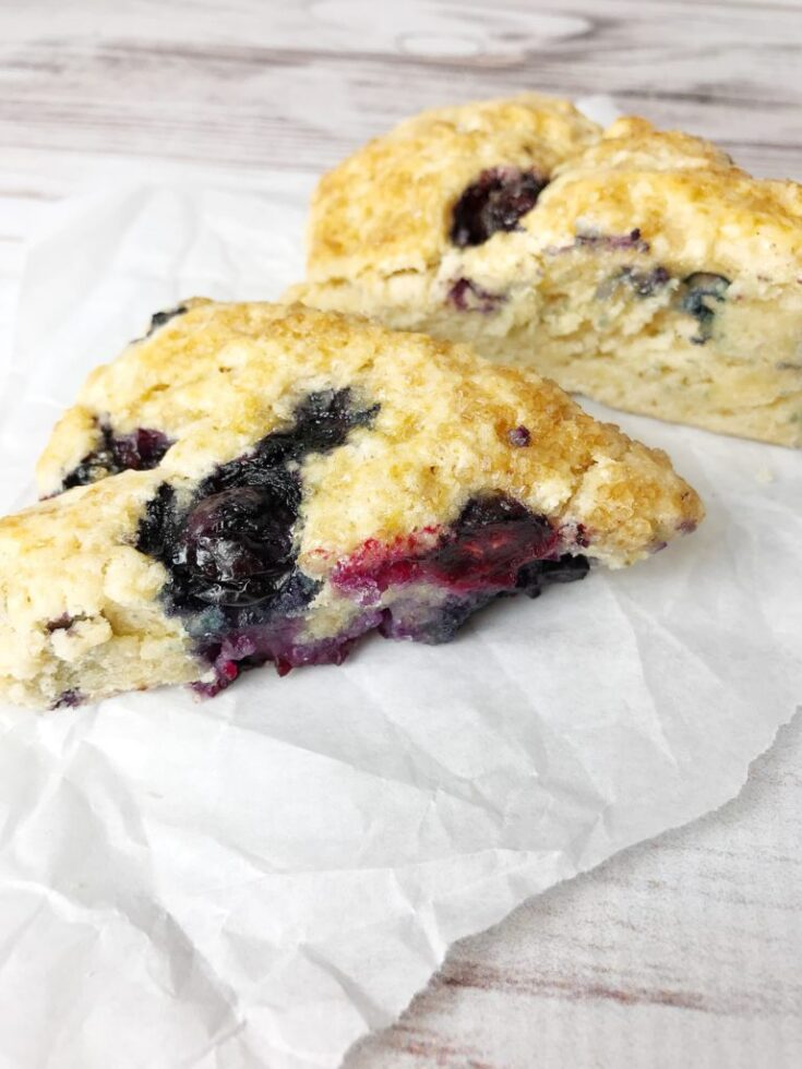 Copycat Starbucks Blueberry Scones