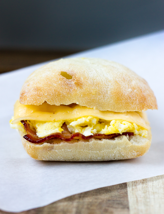 Bacon, Egg, and Gouda Breakfast Sandwich