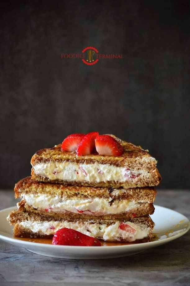 IHOP *CopyCat* French Toast with Cream Cheese & Strawberry Filling