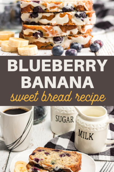 blueberries and bananas make a perfect sweet bread for breakfast