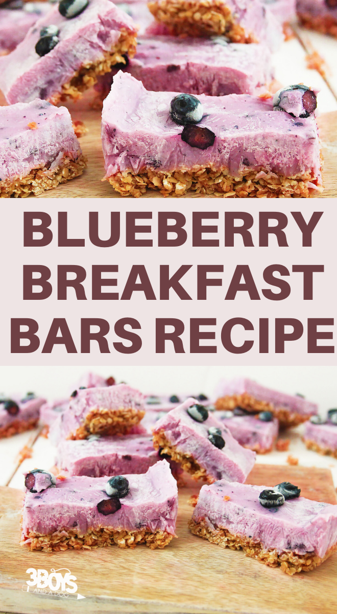 blueberries yogurt granola and oatmeal breakfast bars recipe