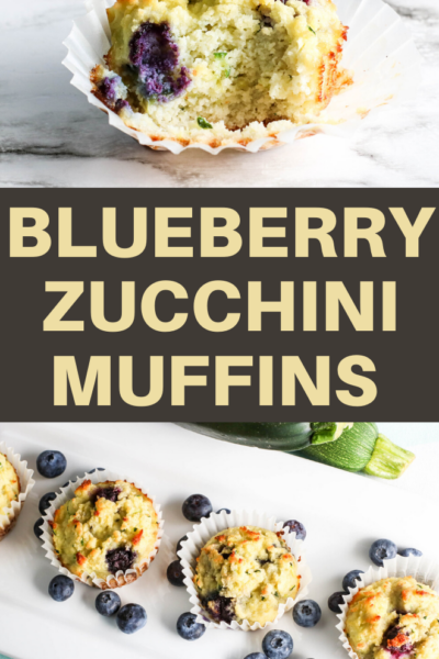 this blueberry and zucchini muffin recipe makes a delicious treat for breakfast